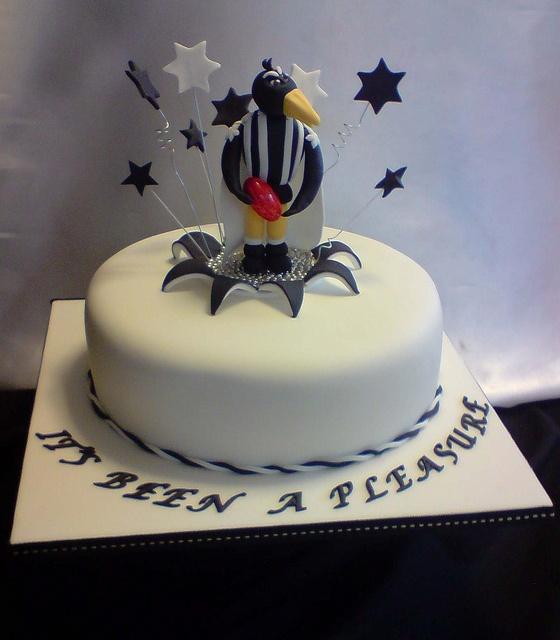 Collingwood Football fan cake