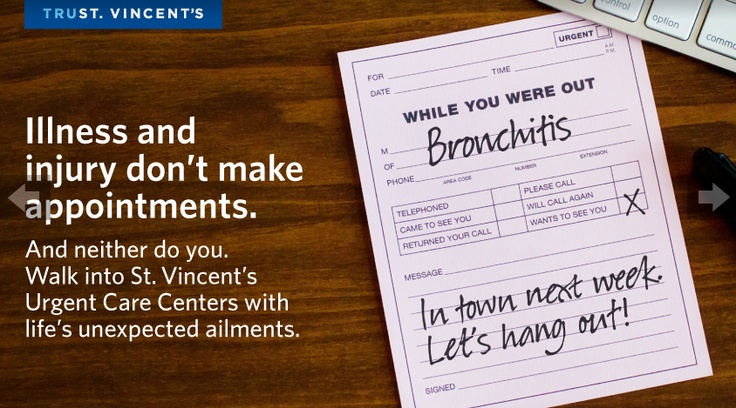 "Print Ad ""Urgent Care Center Campaign"""