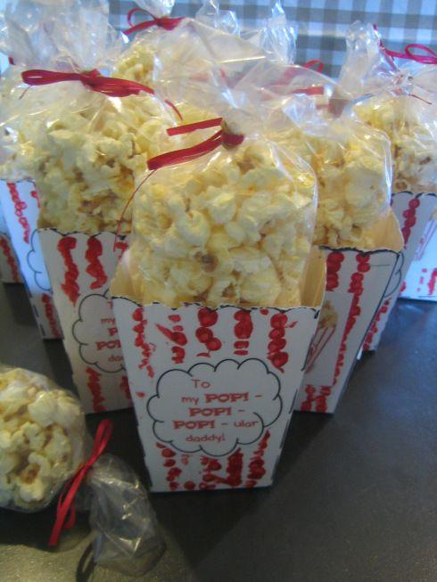 popcorn voor een populaire papa