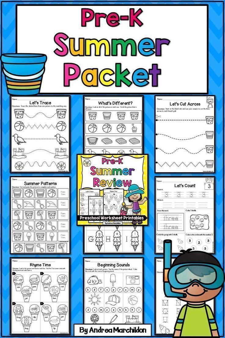 Preschool (Pre-K) Summer Packet   Preschool (Pre-K) Morning