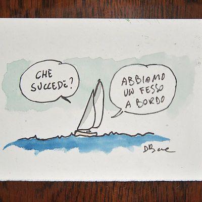 fumetti e vignette originali di Davide Besana tavole originali