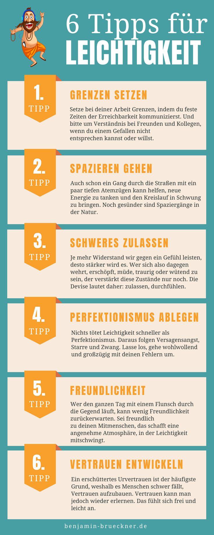 10 Tipps für mehr Leichtigkeit