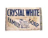 "Colgate Palmolive ""Peet's Crystal White Family Soap"", circa 1940s by @shoresantiques   #vanity #soap #ooak #colgate #palmolive #advertizing  #40's #etsyvintageteam #forsale #blue #white #cow #hygiene"