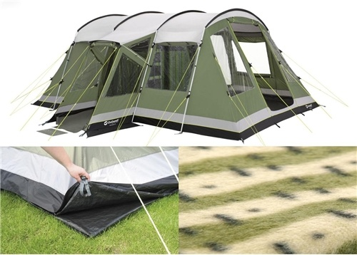 Outwell Montana 6 tent - 6 berth, integral groundsheet and wall to wall carpet. Nice :)