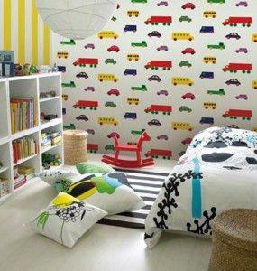 Papel tapiz para ni os habitaciones micasa closets - Habitaciones decoradas para ninos ...