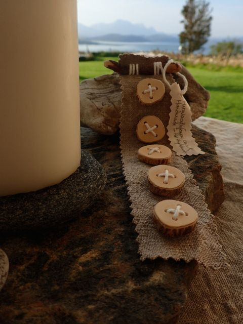 Natural wood buttons on Linen backing. by TheWoodlifeWay on Etsy