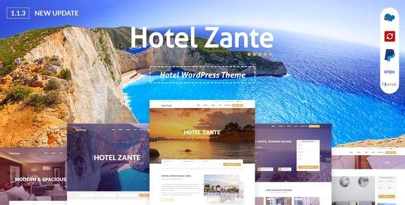 Hotel Zante Hotel Wordpress Theme Stylelib In 2020 Theme Hotel Wordpress Theme Hotel