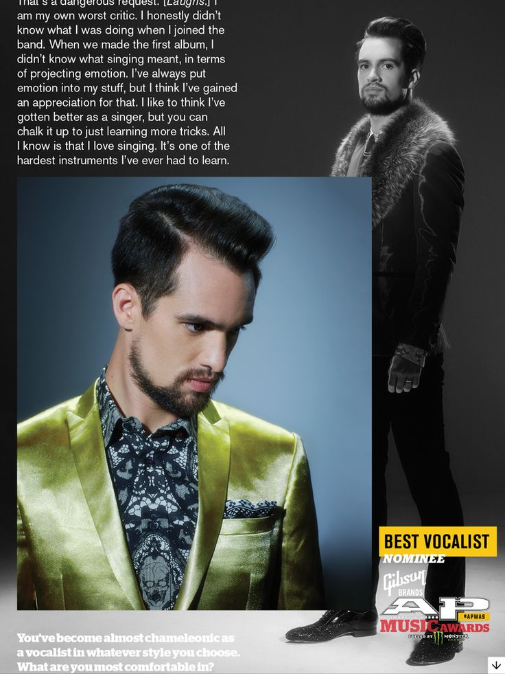 Brendon Urie on the cover of Alternative Press  Grooming: Jeremy Kaikala - Stylist: Anthony Franco - Photo: Jonathan Weiner