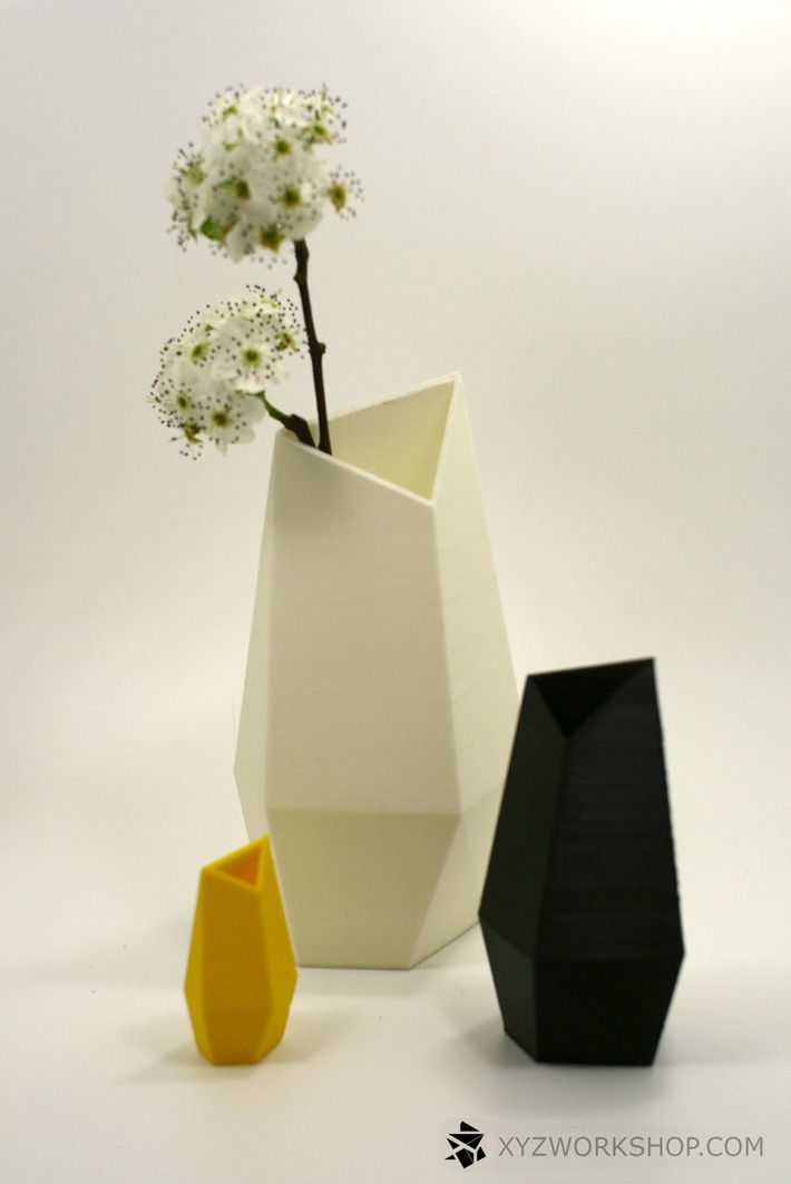 Facet Vase by XYZ Workshop. How to use 3D printing to turn your house into an urban crib - Blog - CGTrader.com