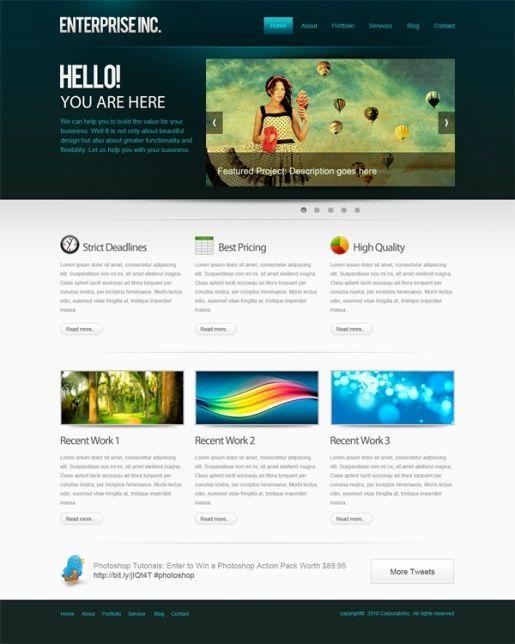 35 Photoshop Tutorials for Website Layouts #webdesign #inspiration