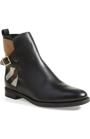 Burberry 'Richardson' Leather Boot (Women) available at #Nordstrom