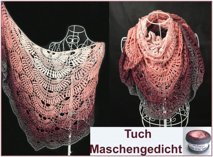 """Tuch """"Maschengedicht"""" Schriftliche Anleitung: https://www.crazypatterns.net/de/store/VeronikaHug"""