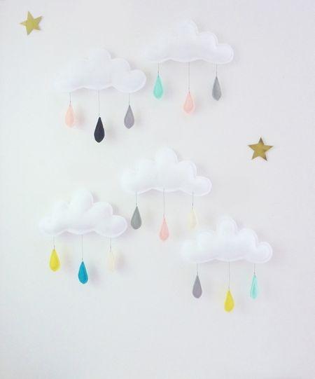 Mobile nuage The Butter Flying-Gouttes de pluie