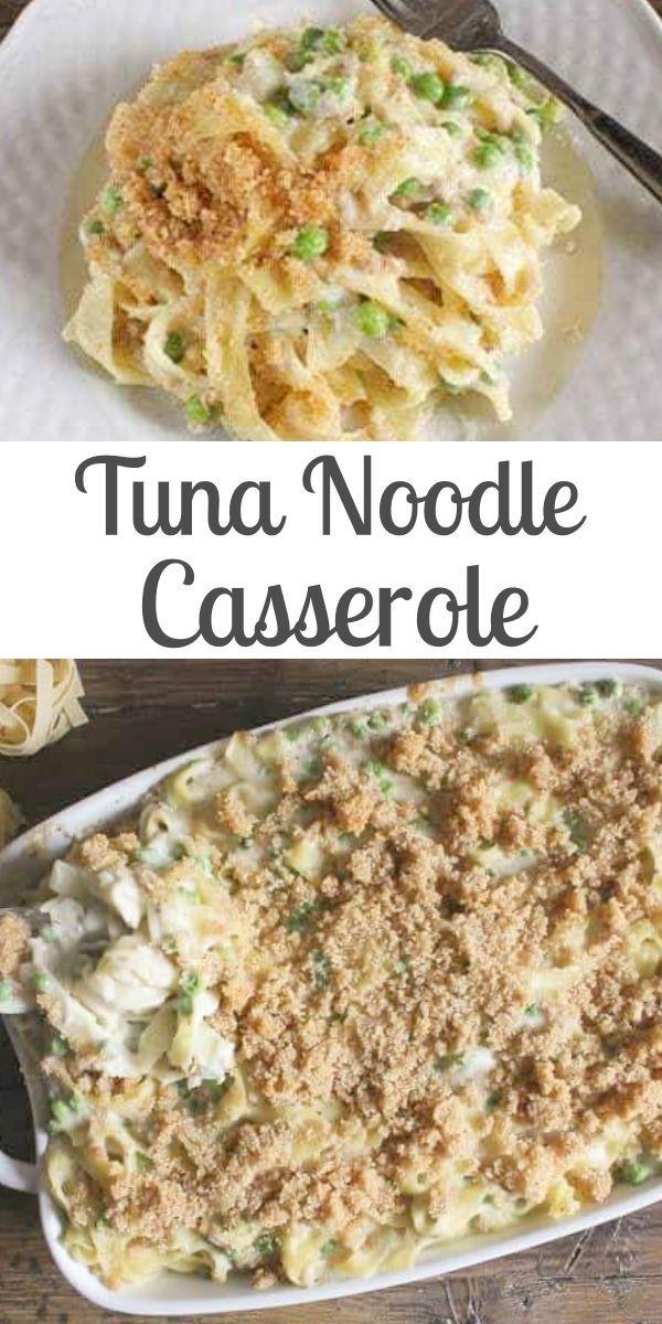 Easy Creamy Tuna Noodle Casserole Tuna Noodle Casserole Delicious Tuna Noodle Casserole