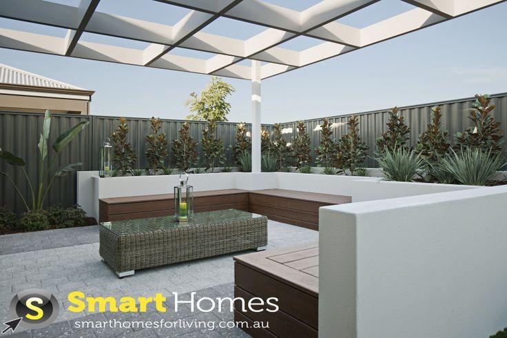 modern patio alfresco design with added pergola #patio #alfresco #smarthomesforliving