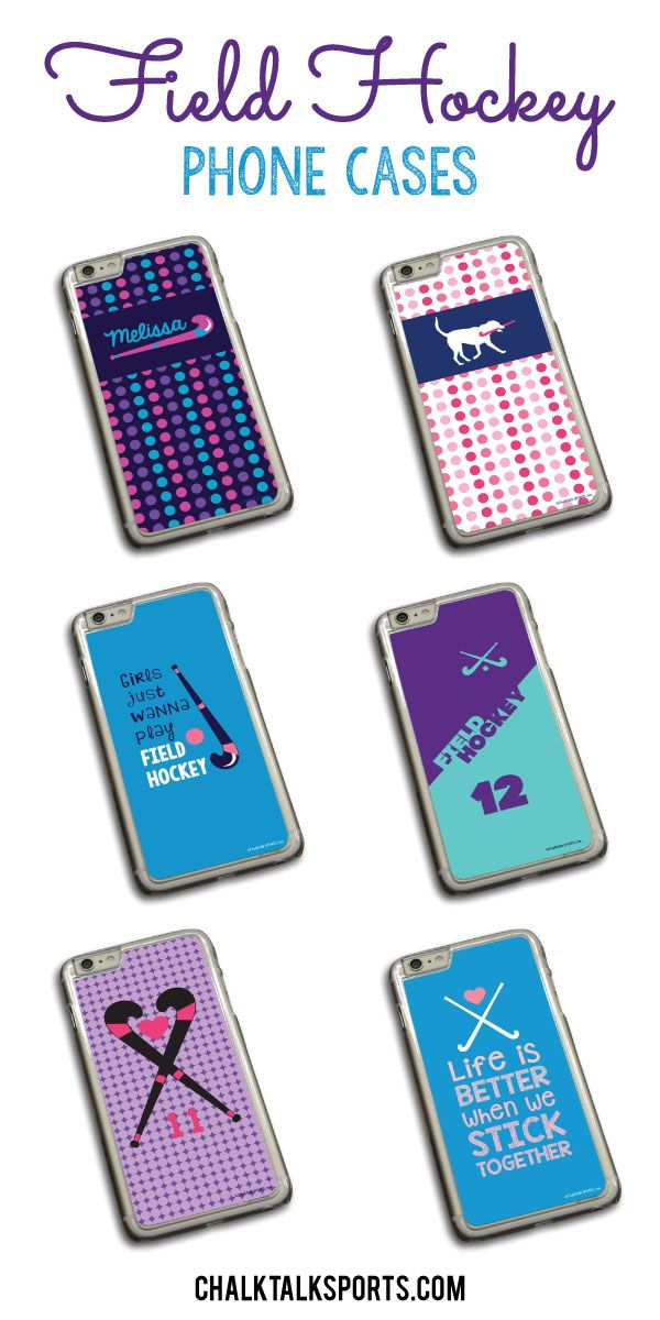Check out our brand new field hockey phone cases! So many new designs available in a variety of colors! These would make a great gift for your favorite field hockey player! Only from ChalkTalkSPORTS.com!