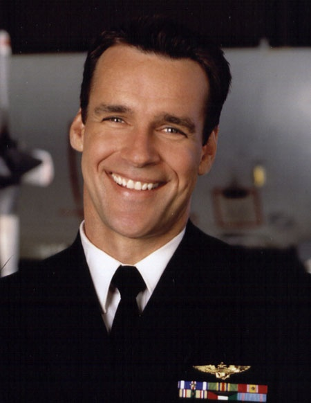 Currently crushing hard on David James Elliott - well, his character Commander Harmon Rabb on JAG