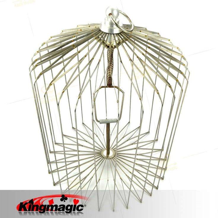 66.60$  Buy now - http://alib7a.worldwells.pw/go.php?t=2013978230 - Large Appearing Bird Cage Silver Folding Dove Cage for Magicians Props Magic Metal Magic Bird Cage Wholesale 66.60$