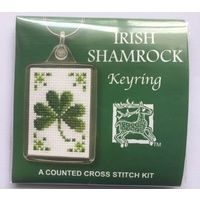 Irish Shamrock Green Counted Cross Stitch Keyring Kit by Textile Heritage KRIS #StPatricksDay #Buttons #crafts #homemade #DIY #artsandcrafts