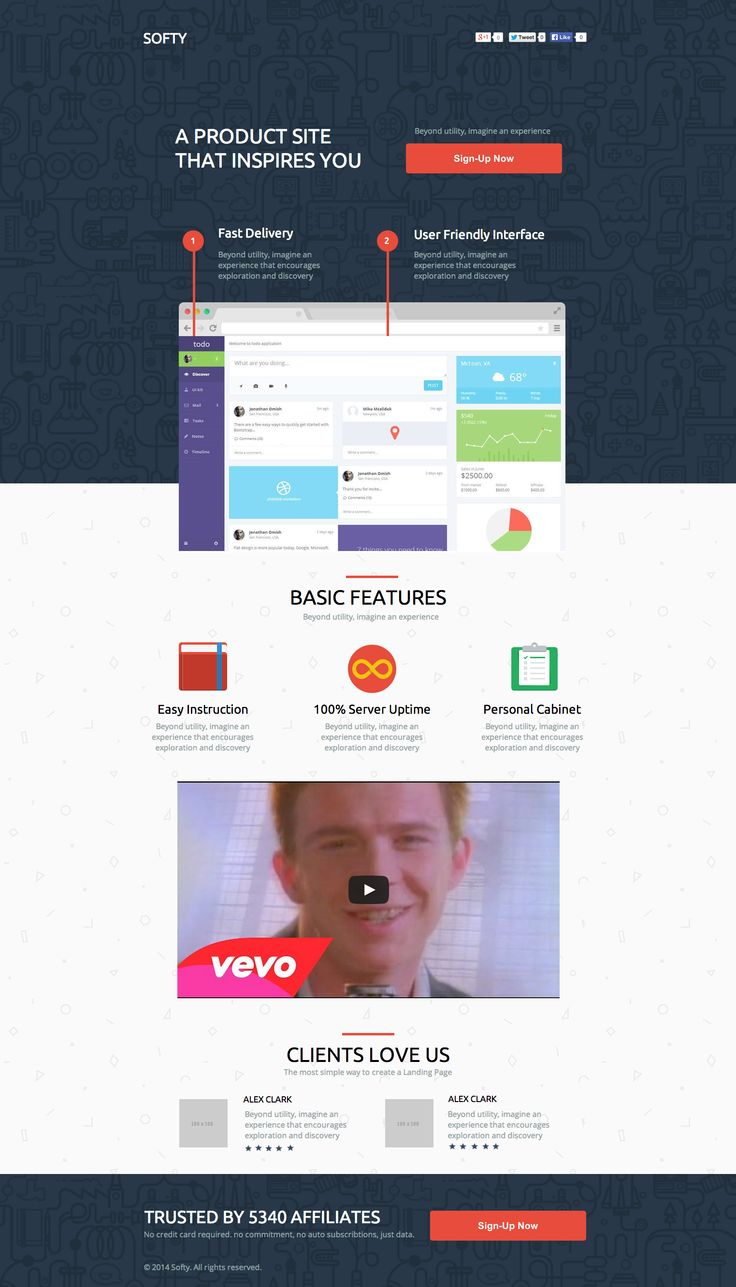See the live template on Themeforest ➜ http://themeforest.net/item/softy-software-promo-application-landing-page/9341639