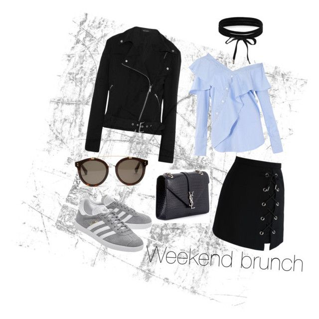 Weekend brunch by melanie-quail-cotterill on Polyvore featuring polyvore, fashion, style, FAIR+true, Equipment, Chicwish, adidas Originals, Yves Saint Laurent, Boohoo, STELLA McCARTNEY and clothing