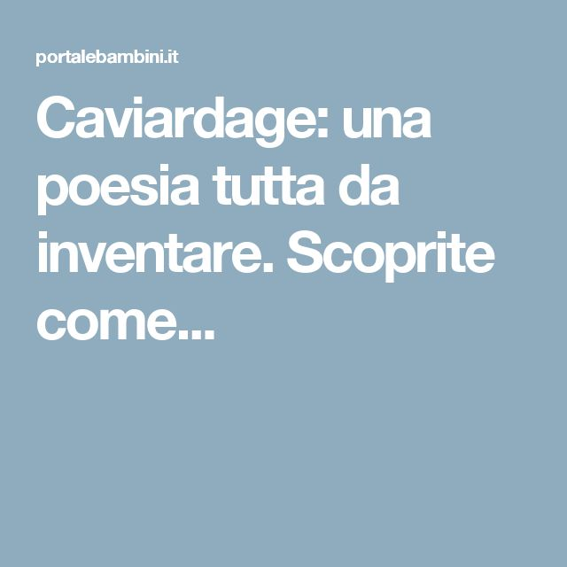 Caviardage: una poesia tutta da inventare. Scoprite come...