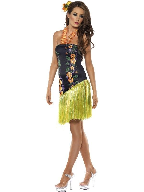 The 25 best hawaiian costume ideas on pinterest luau costume the adult fever luscious luau hawaiian costume includes a colourful floral print dress with a green grass style skirt also included is an orange lei neck solutioingenieria Gallery