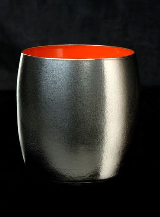 Titanium Japanese Lacquer Cup by Rhus  (Vermillion Soul) featured on Jzool.com