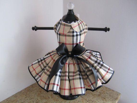 Dog Dress  XS Fasion Plaid  by Nina's by NinasCoutureCloset