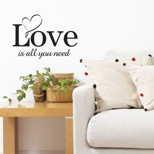 wallstickers tekst all you need is love