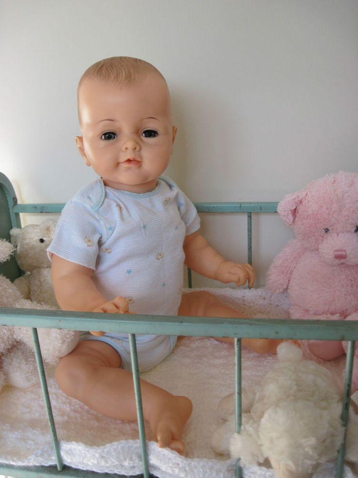 "Vintage IDEAL Bye Bye Baby Doll 25"" Playpal Clean Large #Dolls"