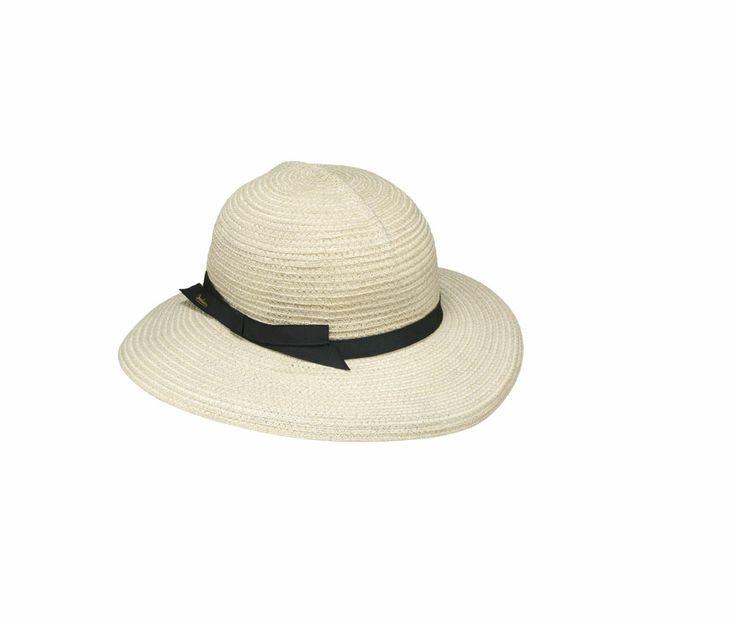 #Borsalino - Cappello in canapa, arrotolabile, sfoderato, cupola tonda, ala media, cinta sottile in gros grain logata. Sacchetto contenitore in cotone. Made in Italy.