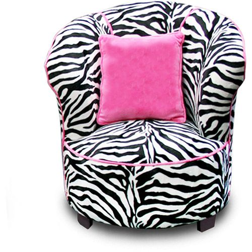 I want this chair so badly. It's the best chair for any teen that loves pink and zebra print.