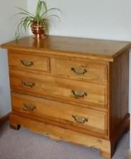 BEAUTIFUL FRENCH ARTISAN SOLID OAK CHEST OF DRAWERS HANDMADE IN DORDOGNE FRANCE