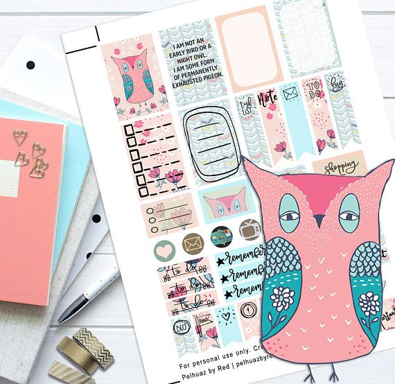 Sleep Deprived Theme Planner Weekly Sticker Kit Happy Planner