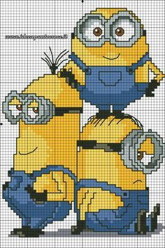 MINIONS CROSS STITCH PATTERN by syra1974.deviantart.com on @DeviantArt