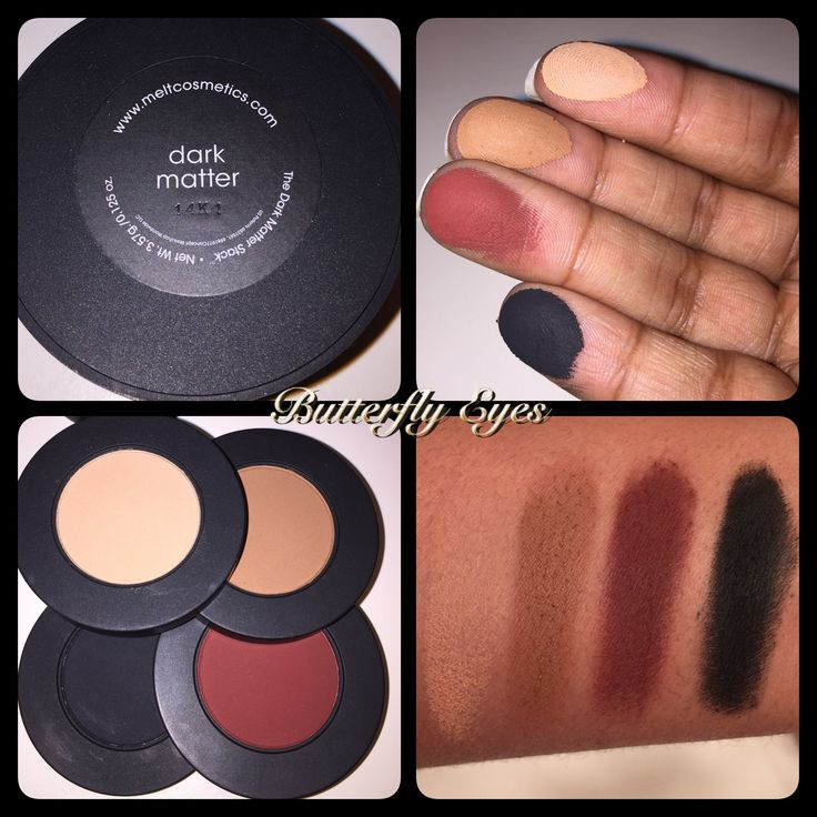 Melt Cosmetics Dark Matter eyeshadow stack