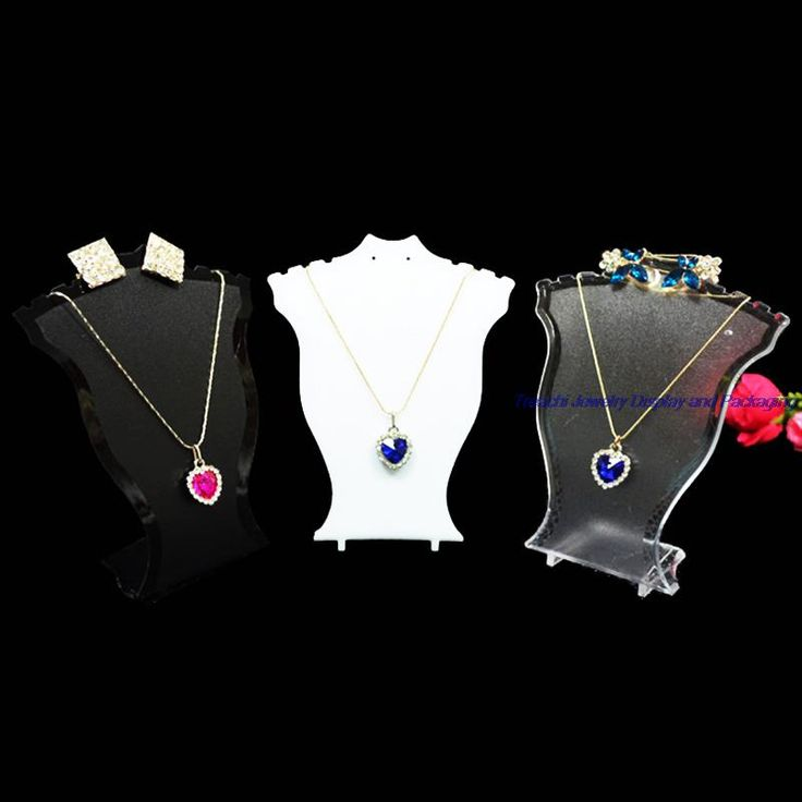 3 цвет пластиковые ожерелья ювелирных изделий подставка для серьги стойку держателя карты 12 см высота манекен бюст купить на AliExpress