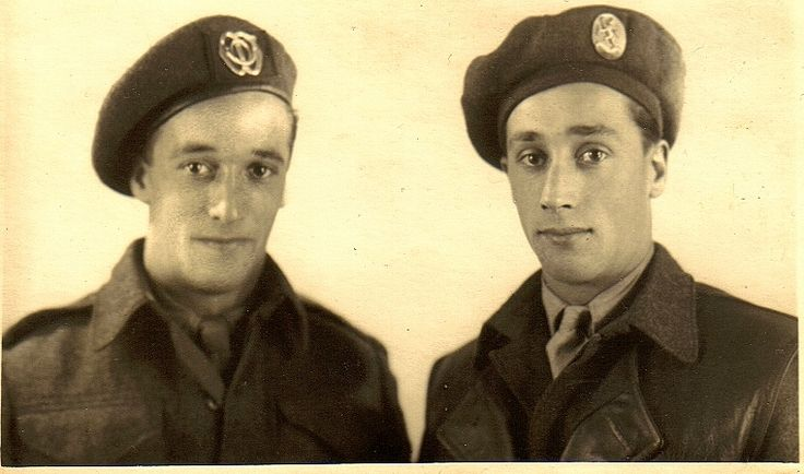 My uncle and my father, soldiers in the late 40's
