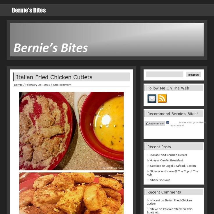 Bernie's Bites  The website 'berniesbites.com' courtesy of Pinstamatic (http://pinstamatic.com)