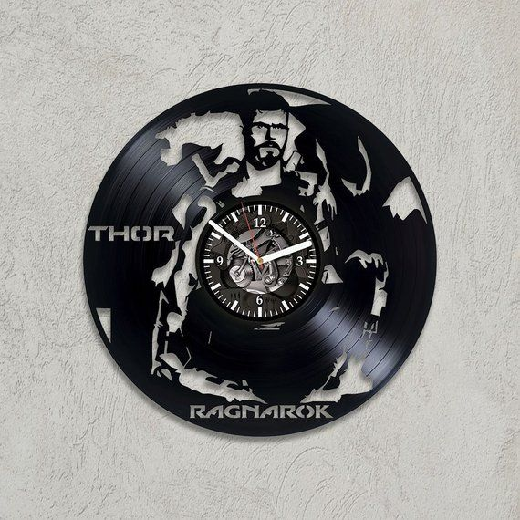 Thor Vinyl Record Wall Art Clock Film Gift For Christmas Exclusive Wall Clock