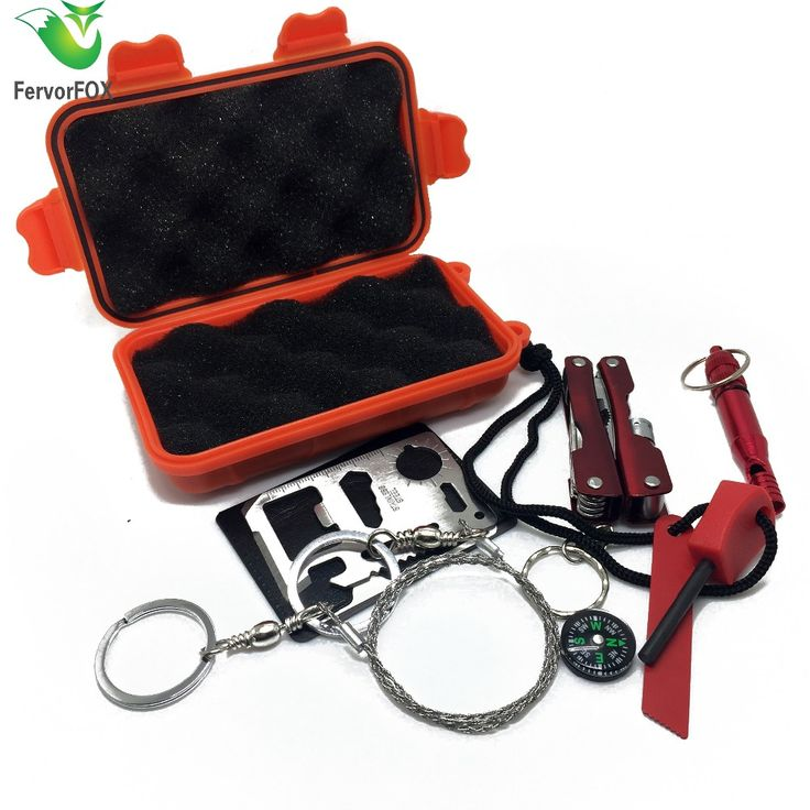 NEW Outdoor Emergency Equipment SOS Kit First Aid Box Supplies Field Self-help Box For Camping Travel Survival Gear Tool Kits