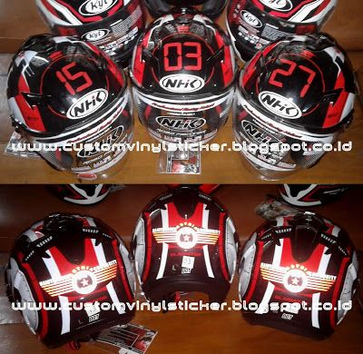 Helmet Branding - AMC Community Logo & Numbering (...