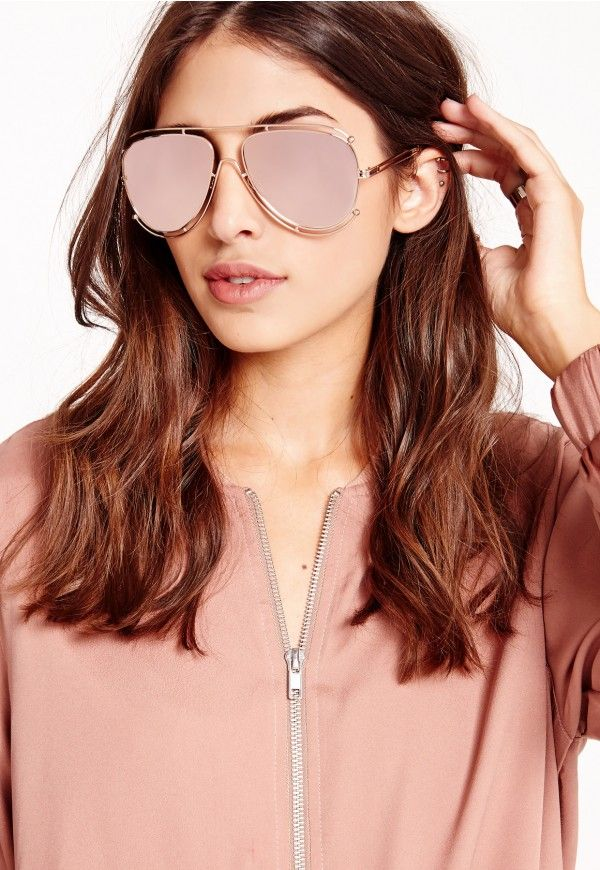 rose gold aviators  17 Best ideas about Oversized Aviator Sunglasses on Pinterest ...