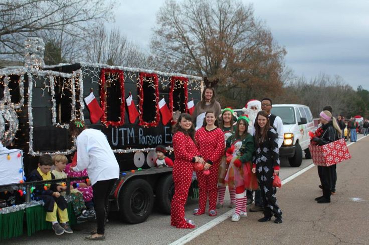 The Polar Express Christmas float by UTM Student Ambassadors for local Christmas parades