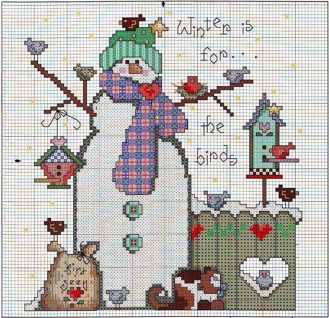 """Sweet patchwork: """"Muñeco de nieve de regalo"""""""