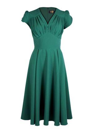 So Foxy Retro Dress - Emerald