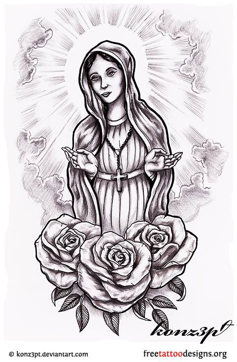Virgin mary design k pinterest gothic tattoo gothic for Holy mary tattoo