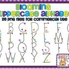 This alphabet set contains 26 hand drawn uppercase letters. These graphics may be used commercially. A credit image is included in the file for you...