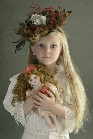 A Girl and Her Dolly ~ by Kylie Foley